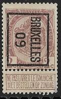 Brussel  1909 Typo Nr. 11B Hoekje Rechtsonder - Precancels