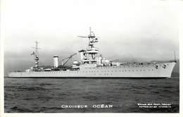 """BATEAU DE GUERRE -Croiseur """"Océan"""" ,Marius éditeur Toulon.. - Krieg"""