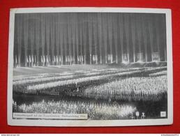 """Propaganda-Karte """"Reichsparteitag In Nürnberg Mit Appell Auf Der Zeppelinwiese"""" Gelaufen 1936 - Germany"""