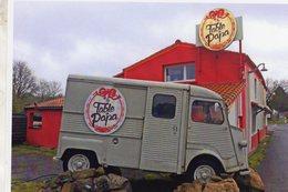 Citroen HY Utilitaire   -  Publicité Restaurant 'La Table De Papa'  -  CPM - Camions & Poids Lourds