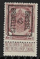 Brussel 1912  Typo Nr. 25B - Precancels