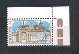 Czech Republic 1993 MNH ** Mi 7 Sc 2883 UNESCO Brevnov Monastery. Kloster. Tschechische Republik. Corner - Czech Republic