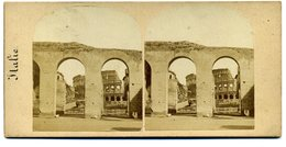 Photos Stéréoscopiques - Italie - Rome - Fragments Du Temple De La Paix  N° 4 - F 78 - Stereoscopio