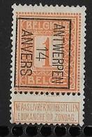 Antwerpen 1914  Typo Nr. 44B - Precancels