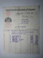 1929 FACTURE - BELFORT SOCIÉTÉ ANONYME DE CHAUFFAGE ET VENTILATION Agences MULHOUSE ÉPINAL NANCY PARIS - 1900 – 1949