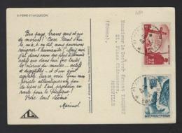 CARTE MEDICALE * MARINOL * ST PIERRE ET MIQUELON * 1948 * 2 SCANS - St.Pierre & Miquelon