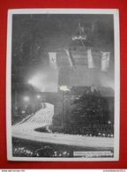 """Propaganda-Karte """"Reichsparteitag In Nürnberg Mit Fackelzug"""" Gelaufen 1936 - Germany"""