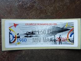 2010  LISA2  UN SIECLE DE MARINS DU CIEL  1,50 MINI MAX (vendue à La Faciale) ** MNH - 2010-... Illustrated Franking Labels