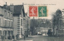 SAINT GALMIER - LE QUARTIER DES SOURCES (TRAMWAY A VAPEUR PETIT PLAN) - Frankrijk