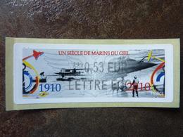 2010  LISA2  UN SIECLE DE MARINS DU CIEL  0,53 LETTRE ECO (vendue à La Faciale) ** MNH - 2010-... Illustrated Franking Labels