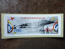2010  LISA2  UN SIECLE DE MARINS DU CIEL  0,75 LETTRE PRIORITAIRE INTERNATIONALE (vendue à La Faciale) ** MNH - 2010-... Illustrated Franking Labels