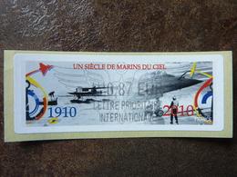 2010  LISA2  UN SIECLE DE MARINS DU CIEL  0,87€ LETTRE PRIORITAIRE INTERNATIONALE (vendue à La Faciale) ** MNH - 2010-... Illustrated Franking Labels