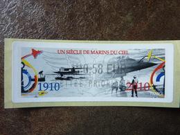 2010  LISA2  UN SIECLE DE MARINS DU CIEL  0,58€ LETTRE PRIORITAIRE (vendue à La Faciale) ** MNH - 2010-... Illustrated Franking Labels