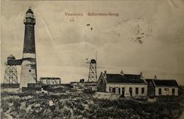 Schiermonnikoog // Oude Kaart Vuurtoren En Omgeving 1918 Vouwen - Hoekje - Rand Scheurtje - Schiermonnikoog