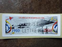 2010  LISA2  UN SIECLE DE MARINS DU CIEL  0,75€ LETTRE ECO (vendue à La Faciale) ** MNH - 2010-... Illustrated Franking Labels
