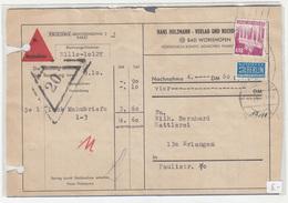 Hans Holzmann Verlag, Bad Wörishofen Company Nachname Parcel Card? 195? B200225 - BRD