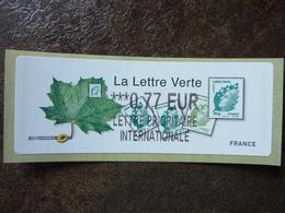 2011  LISA2  LA LETTRE VERTE  0,77€ LETTRE PRIORITAIRE INTERNATIONALE (vendue à La Faciale) ** MNH - 2010-... Illustrated Franking Labels