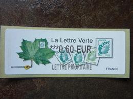 2011  LISA2  LA LETTRE VERTE  0,60€ LETTRE PRIORITAIRE (vendue à La Faciale) ** MNH - 2010-... Illustrated Franking Labels