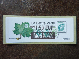 2011  LISA2  LA LETTRE VERTE  1,50€ MINI MAX (vendue à La Faciale) ** MNH - 2010-... Illustrated Franking Labels