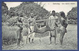 CPA - DAHOMEY - UNE BONNE CHASSE - LEOPARD - Dahomey