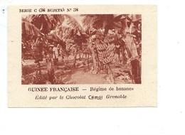 Chromo AOF GUINÉE Bananes TB 75 X 50 Mm Pub: Chocolat Cémoi Au Dos Colonies Françaises - Chocolat