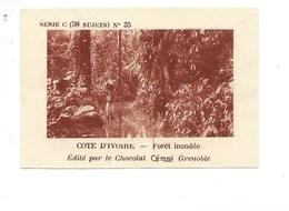 Chromo AOF Côte D'Ivoire Forêt Inondée TB 75 X 50 Mm Pub: Chocolat Cémoi Au Dos Colonies Françaises - Chocolat