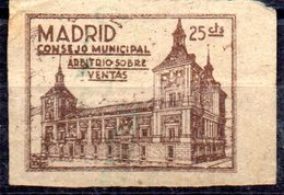 Viñeta Madrid Consejo Municipal 25cts - Viñetas De La Guerra Civil