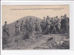 PEYRUS : Le Champ De Tir, Démontage Des Mitrailleuses - Séjour Du 75ème (militaire) - Très Bon état - France