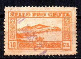 Viñeta Pro Ceuta 10cts - Viñetas De La Guerra Civil
