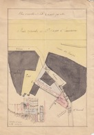 Plan D'ensemble, Profil En Long Du Ruisseau De Mouthier (bassin De La Loue, Doubs) Et Plan De La Forge Projetée, 1849 - Travaux Publics