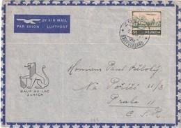SUISSE 1946 PLI AERIE NDE ZURICH POUR PRAGUE - Covers & Documents