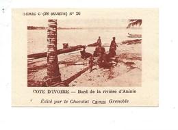 Chromo AOF Côte D'Ivoire Rivière D'ANINIE TB 75 X 50 Mm Pub: Chocolat Cémoi Au Dos Colonies Françaises - Chocolat