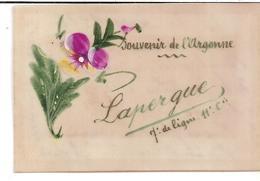 """""""Souvenir De L'Argonne"""" LAPERGUE, 7e De Ligne - 11e Cie. Carte Celluloïd Fantaisie... - Documents"""
