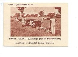Chromo AOF Haute Volta Bobo-Dioulasso TB 75 X 50 Mm Pub: Chocolat Cémoi Au Dos Colonies Françaises - Chocolat