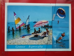 KOV 700-1 - SKI NAUTIQUE, WATER SKIING, GREECE, ASPROVALTA, SAILLING BOAT, PARACHUTE - Wasserski