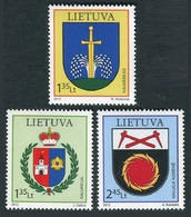 Lituania 2012 **  Correo Yvert Nº  952/54 Escudos De Ciudades  ( 3 Val. ) - Lituania