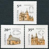Lituania 2011 **  Correo Yvert Nº  938/40 S. Básica / Campanarios Madera (Autoa - Lituanie