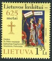Lituania 2012 **  Correo Yvert Nº  961 625 Aniv. Cristianización Lituana - Lituanie