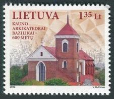 Lituania 2013 **  Correo Yvert Nº  990 600 Aniv. Catedral Kaunas - Lituanie