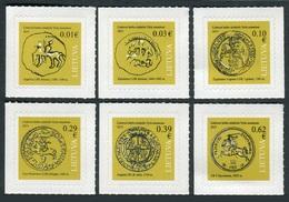 Lituania 2015 **  Correo Yvert Nº  1027/32 Monedas Diferentes épocas  (Autoadhe - Lituanie