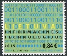 Lituania 2015 **  Correo Yvert Nº  1047 Día De  Info. Sobre Tecnología / Código - Lituanie