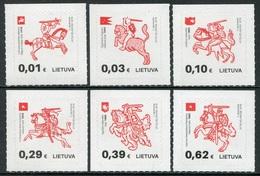 Lituania 2016 **  Correo Yvert Nº  1051/56 Caballeros Y Símbolos Historia Litua - Lituanie