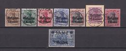 Landespost In Belgien - 1914/16 - Michel Nr. 1/7+9 - Gest. - Besetzungen 1914-18