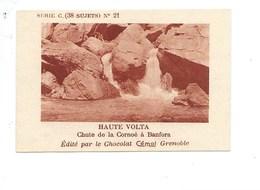Chromo AOF Haute Volta Chute De La Cornoé à Banfora TB 75 X 50 Mm Pub: Chocolat Cémoi Au Dos Colonies Françaises - Chocolat
