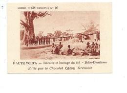 Chromo AOF Haute Volta Blé à Bobo-Dioulasso TB 75 X 50 Mm Pub: Chocolat Cémoi Au Dos Colonies Françaises - Chocolate