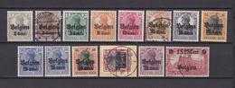 Landespost In Belgien - 1916/18 - Michel Nr. 10/21+23 - Gest. - Besetzungen 1914-18