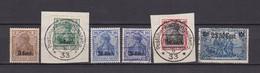 Etappengebiet West - 1916 - Michel Nr. 1/2+6+8+12 - Ungebr./Gest. - Besetzungen 1914-18