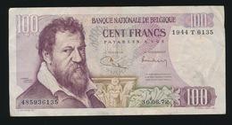 BILJET VAN 100 FRANK   GEBRUIKT  2 AFBEELDINGEN - [ 6] Treasury