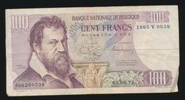 BILJET VAN 100 FRANK   GEBRUIKT  2 AFBEELDINGEN - [ 6] Schatzamt