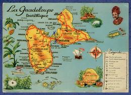 GUADELOUPE - CARTE POSTALE ADMINISTRATIVE (VOIR SCAN VERSO) - LA GUADELOUPE TOURISTIQUE - Guadeloupe